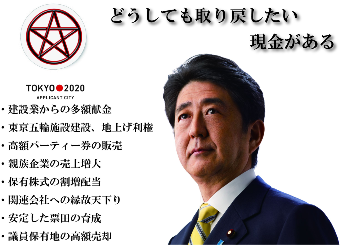 安倍ちゃんと資金管理団体「晋和会」、会計にアベノミクス 収支虚偽報告で告発NHK職員からの献金など、医師や会社役員と偽る jiken politics