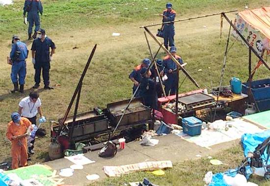 京都・福知山花火大会爆発事故詳細情報気化ガソリンが爆発炎上、58人が病院搬送 うち19人が重傷・危篤業務上過失致死に切り替え捜査 domestic jiken saigai